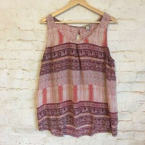 Lucky Brand Women's Large Blouse Tank Top